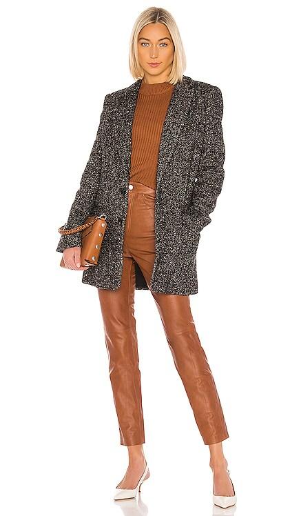 Multicolor Tweed Long Blazer Tibi $358