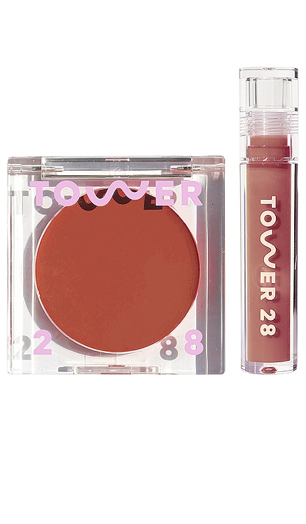 Power Duo Lip + Cheek Set Tower 28 $26 NEW