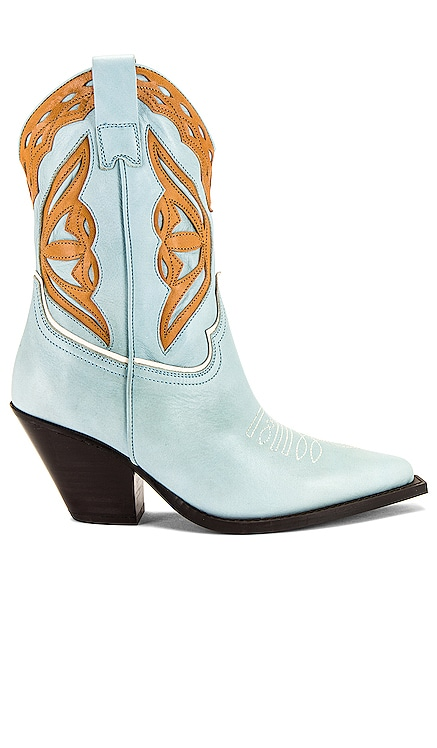 Blue Leather Cowboy Boots TORAL $435