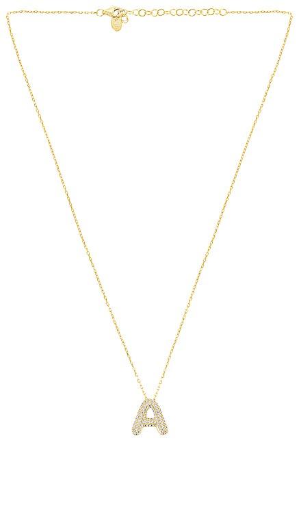 COLLAR COLGANTE PAVE BUBBLE LETTER The M Jewelers NY $120 NUEVO