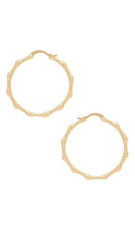 Bamboo Hoop Earrings The M Jewelers NY $65