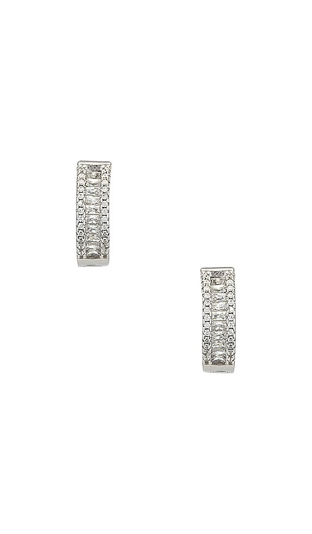 The Baguette Channel Set Huggie Earrings The M Jewelers NY $68