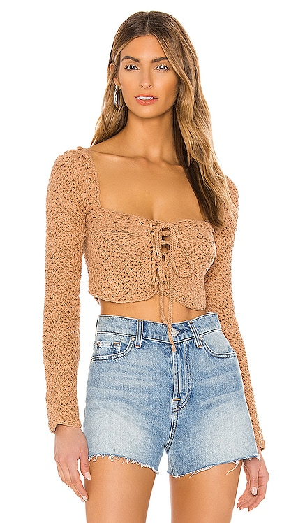 Zenith Crochet Sweater Tularosa $178