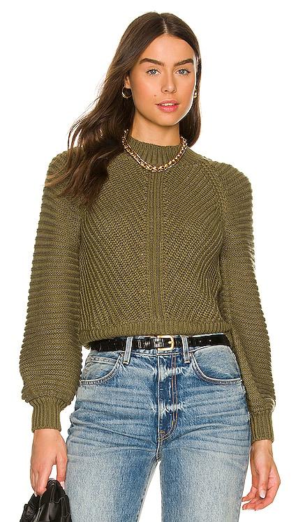 Amina Contrast Rib Sweater Tularosa $188 NEW