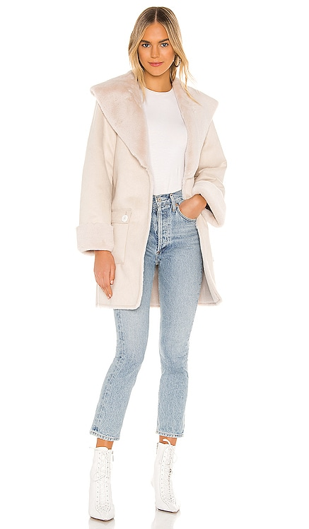 Edith Faux Fur Coat Tularosa $117