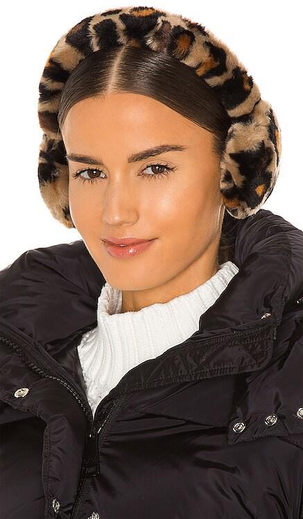 Faux Fur Leopard Print Earmuff UGG $65