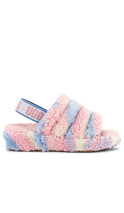 NU-PIED FLUFF YEAH CALI COLLAGE UGG $110
