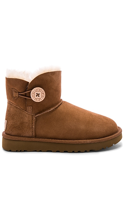 Mini Bailey Shearling Button II Bootie UGG $155