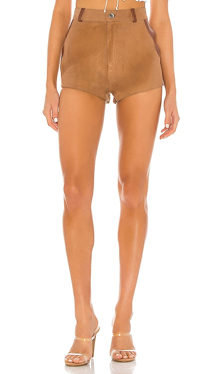X REVOLVE Bandit Leather Combo Short Understated Leather $175 MÁS VENDIDO