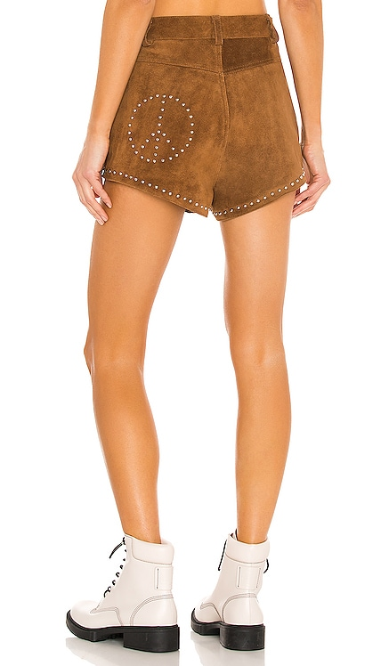 x REVOLVE Peace Shorts Understated Leather $275