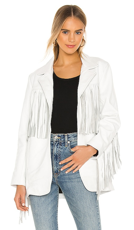 X REVOLVE Buttercup Blazer Understated Leather $490