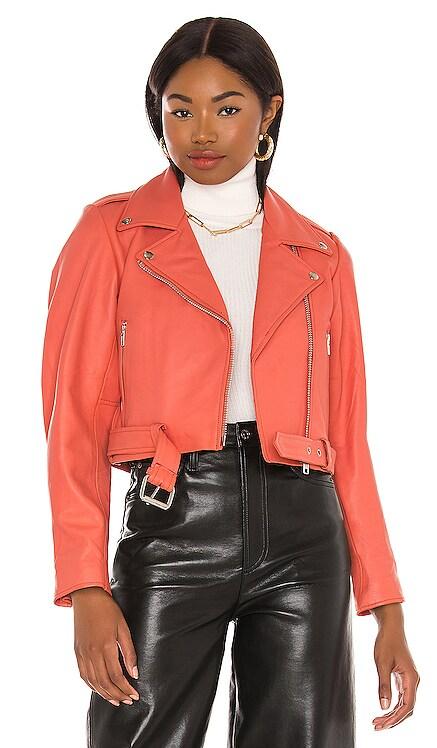 CHAQUETA SCRUNCH Understated Leather $395 NUEVO