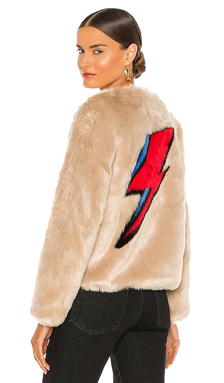 Flash Faux Fur Jacket Unreal Fur $389 NEW