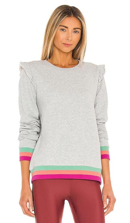 Frill Bondi Crew Sweatshirt THE UPSIDE $150 NEW