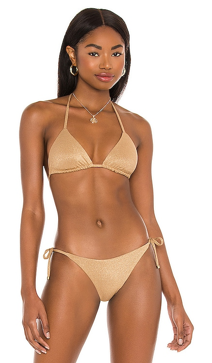 Gia Triangle Bikini Top vitamin A $99 NEW