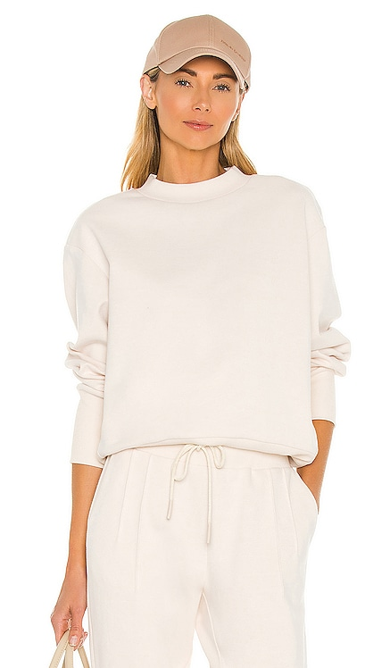 Edith Rib Pique Sweatshirt Varley $128 NEW