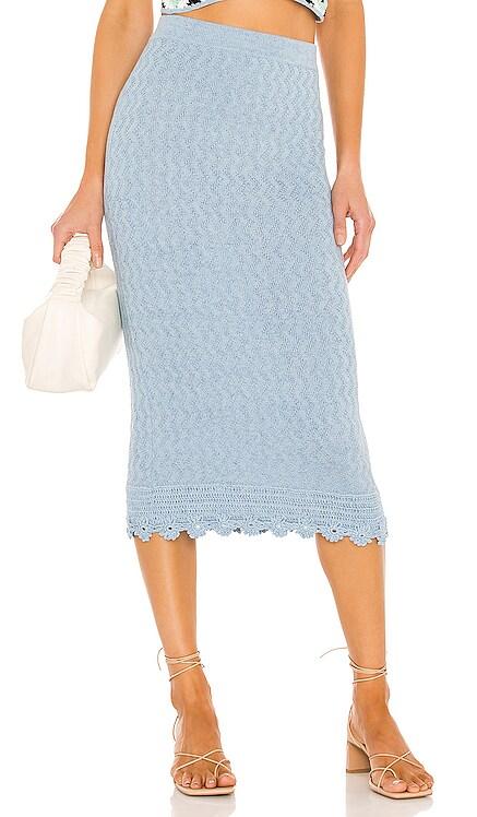 Floral Crochet Skirt Victor Glemaud $345 NEW
