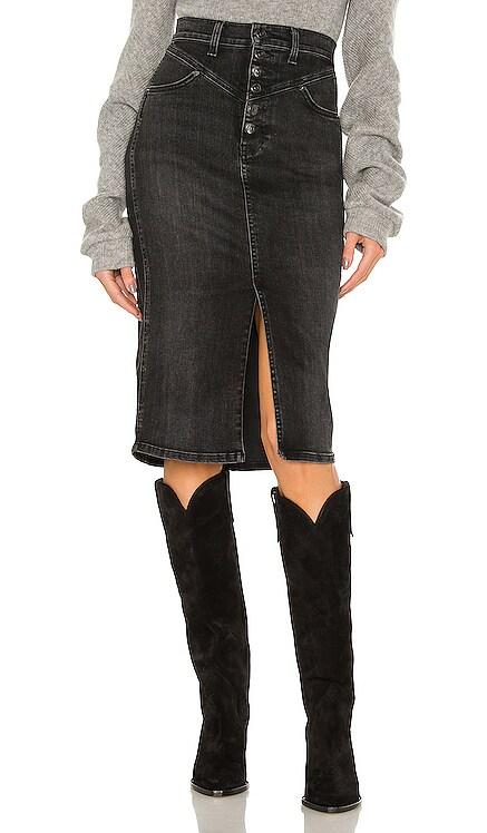 Herron Denim Midi Skirt Veronica Beard $268