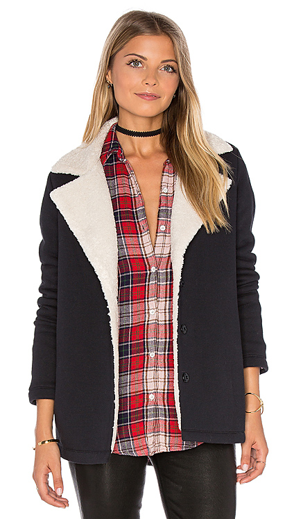 Arie Jacket with Faux Fur Lining Velvet by Graham & Spencer $105