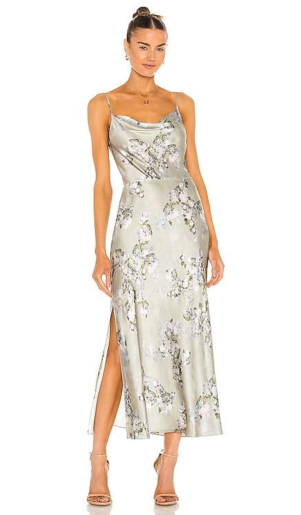 Hazy Blossom Cowl Neck Slip Dress Vince $425 BEST SELLER