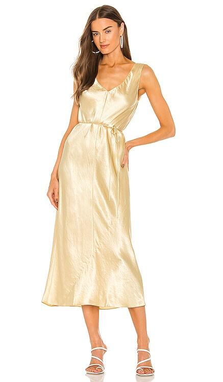 Double V-Neck Satin Dress Vince $325