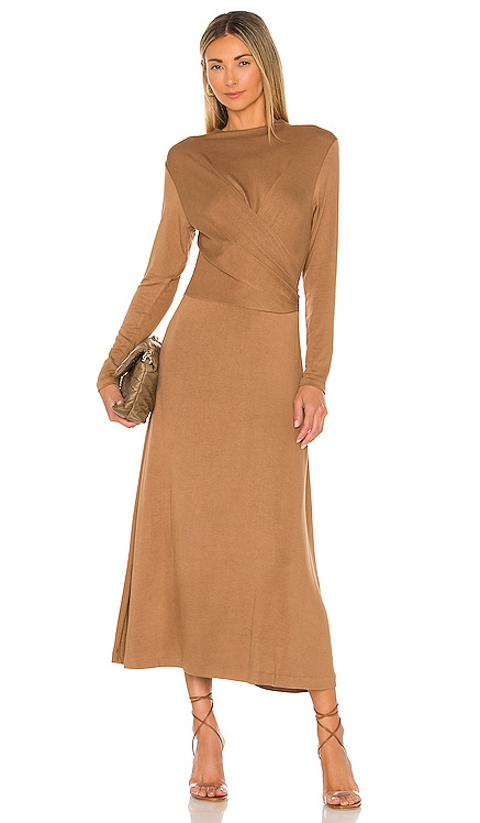 Long Sleeve Draped Dress Vince $245 NEW