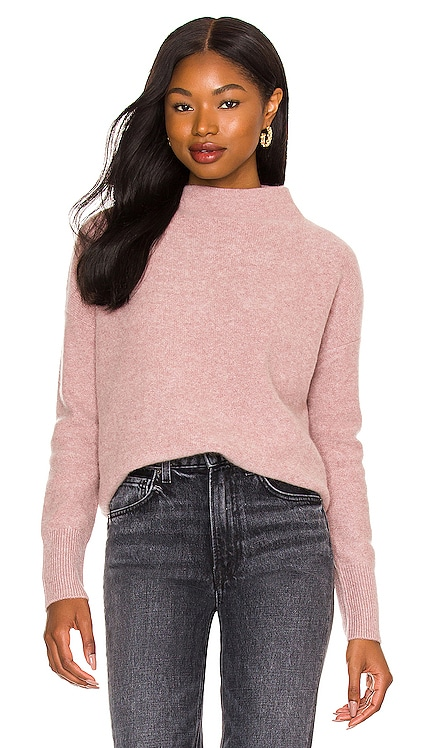 Boiled Funnel Neck Pullover Vince $395 NEW