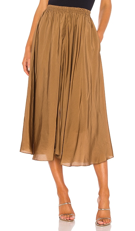 Gathered Pull On Skirt Vince $365 NEW ARRIVAL
