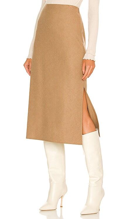 Brushed Flannel Side Slit Slip Skirt Vince $325