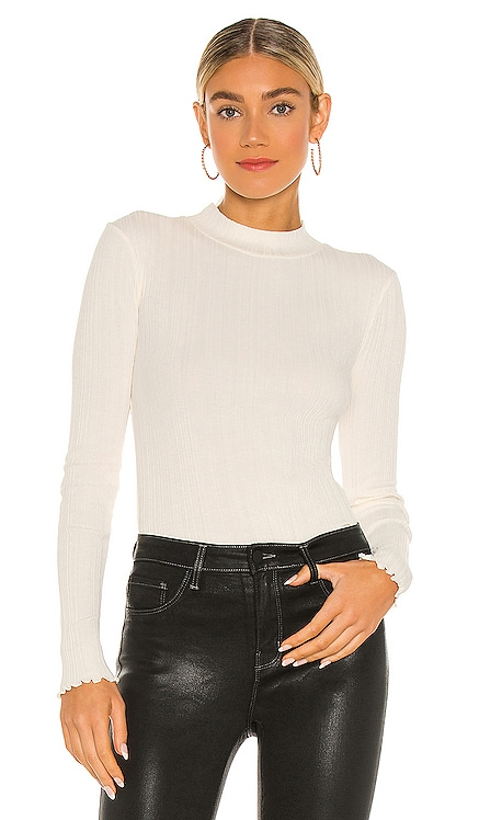 Variegated Rib Long Sleeve Mock Top Vince $110 NEW