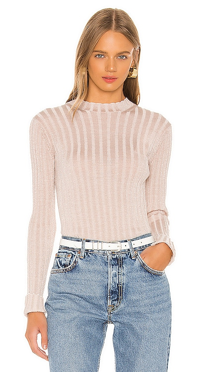 Ribbed Mock Neck Pullover Vince $106
