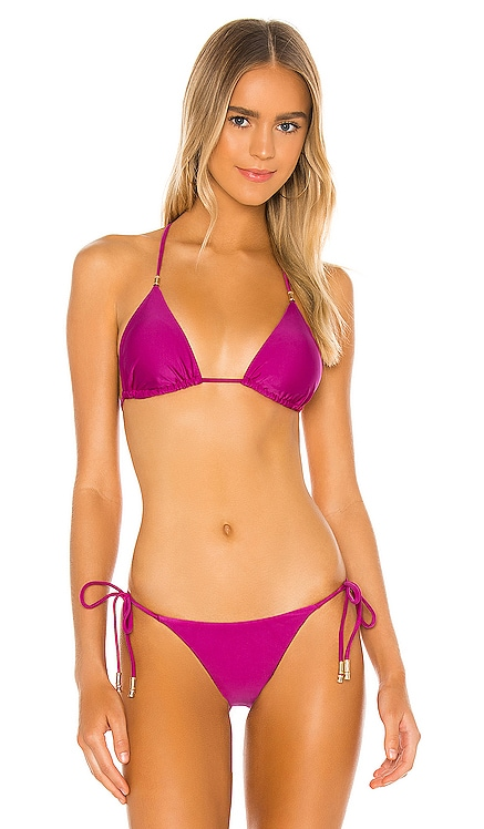 Shaye Tri Bikini Top Vix Swimwear $126 NEW