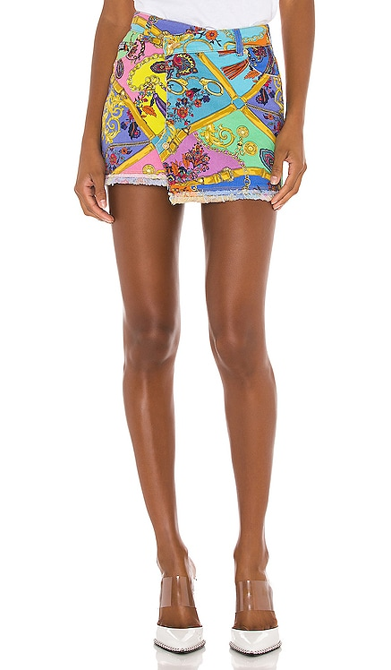 Paisley Mini Skirt Versace Jeans Couture $375