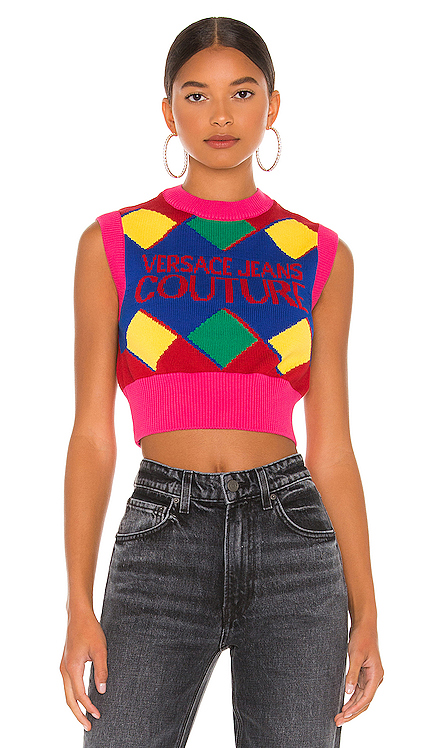 Knit Top Versace Jeans Couture $290 NEW