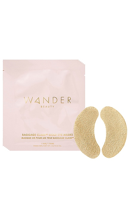 Baggage Claim Gold Eye Mask 6 Pack Wander Beauty $25 BEST SELLER