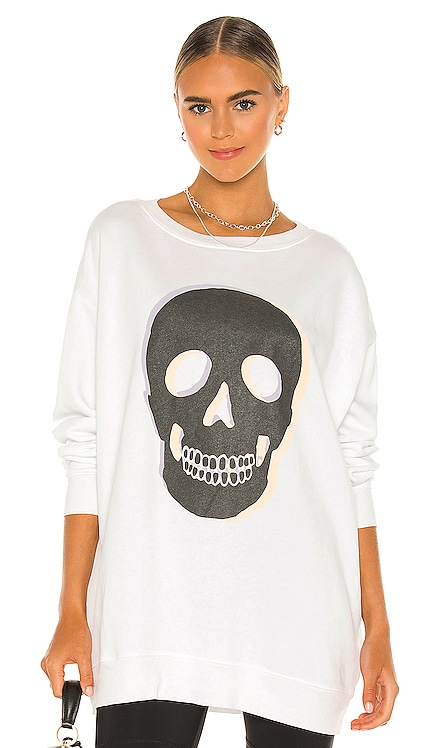 Skull Roadtrip Sweatshirt Wildfox Couture $118 NEW