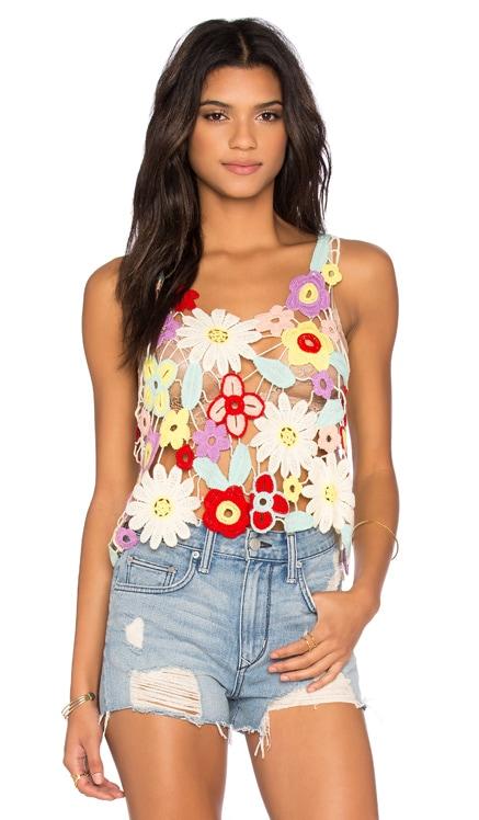Flower Crochet Tank Wildfox Couture $64 (FINAL SALE)