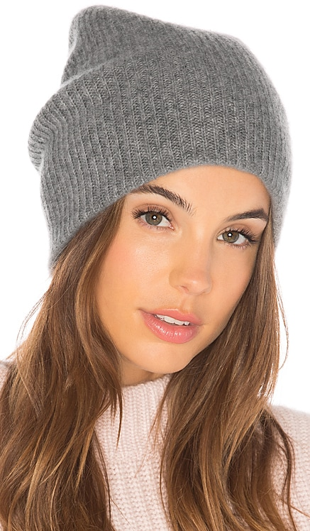 Cashmere Plush Rib Beanie White + Warren $145 BEST SELLER