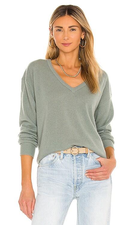 Cashmere Long Sleeve V Neck Sweater White + Warren $265 BEST SELLER