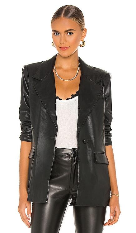Downtown Vegan Leather Blazer WeWoreWhat $248 NEW