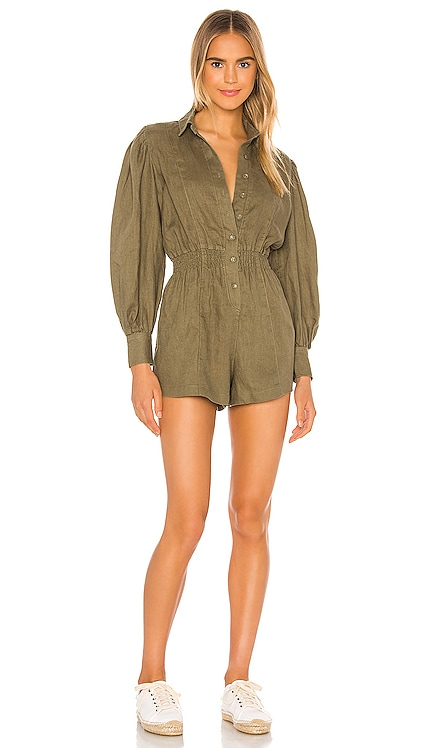 Button Up Romper WeWoreWhat $148 BEST SELLER
