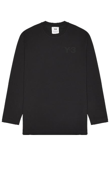 Chest Logo Long Sleeve Tee Y-3 Yohji Yamamoto $100