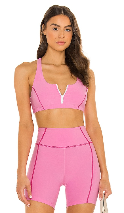 X Lindsey Harrod Zip Front Sports Bra YEAR OF OURS $99
