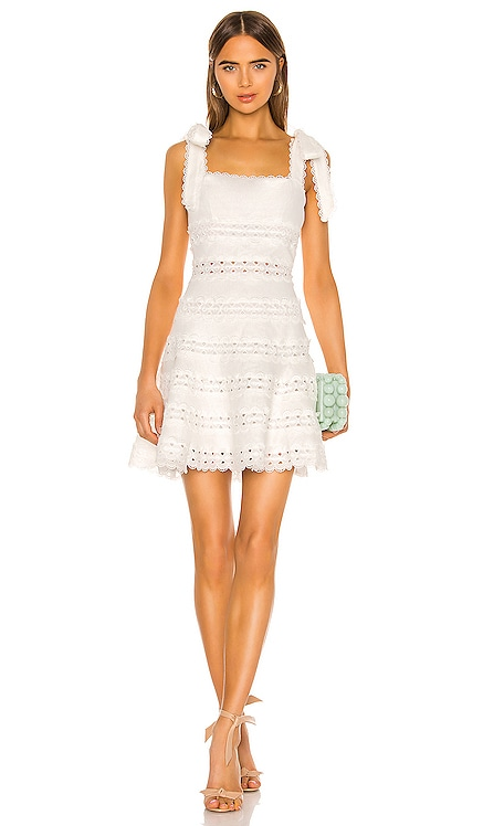 Kirra Tie Shoulder Mini Dress Zimmermann $750 BEST SELLER