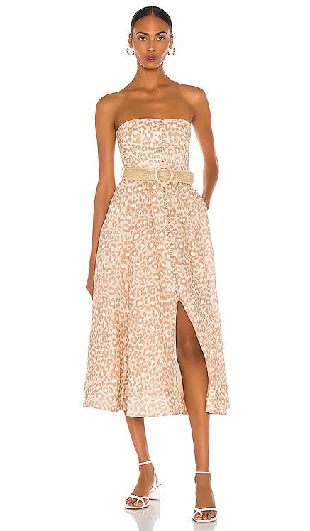 Carnaby Bustier Midi Dress Zimmermann $695