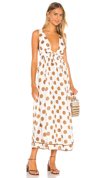Empire Tie Front Long Dress Zimmermann $695 NEW