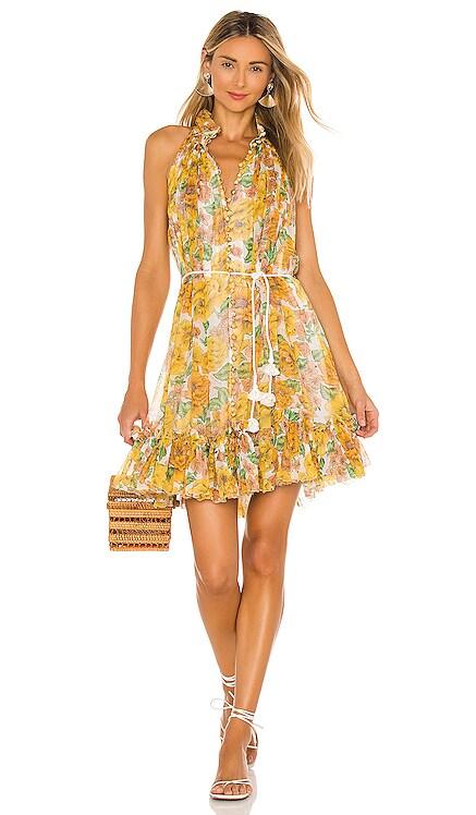 Poppy Short Halter Dress Zimmermann $695 NEW