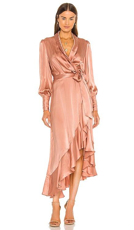 Silk Wrap Midi Dress Zimmermann $630 BEST SELLER