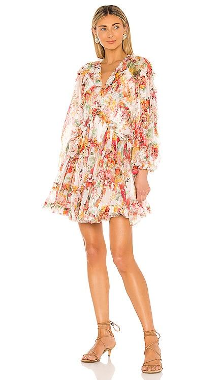 Mae Frill Billow Mini Dress Zimmermann $1,100 NEW