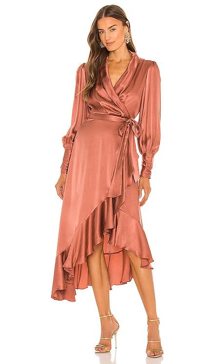Silk Wrap Midi Dress Zimmermann $650 NEW